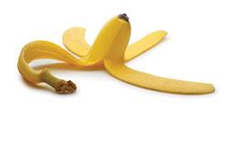 Points noirs nez peaux de banane