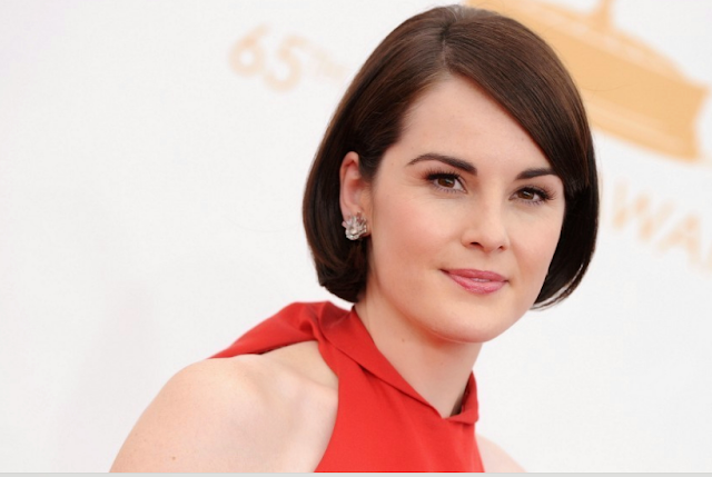 Michelle Dockery In Platinum Jewelry By Fred Leighton