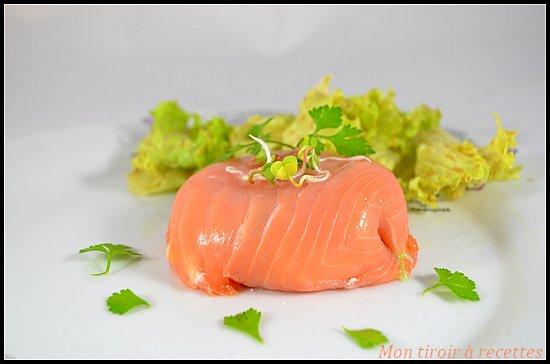 timbale saumon fumé chèvre
