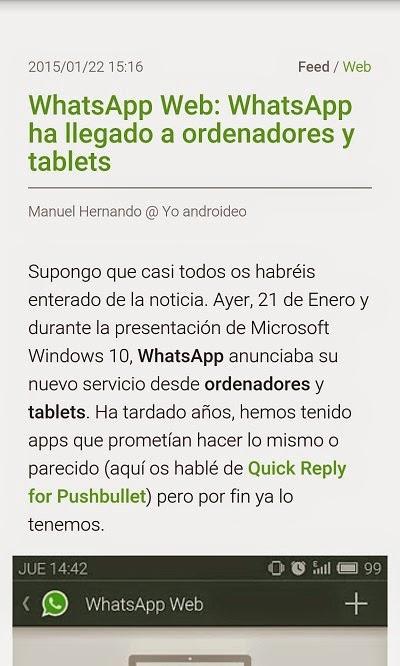 YoAndroideo.com: FeedMe, todas las noticias a mano incluso sin conexión a internet