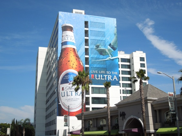 Giant Michelob Ultra Live life to the Ultra billboard