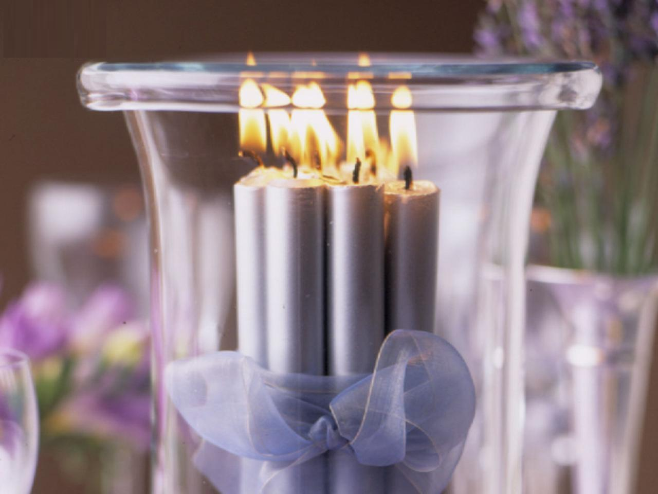Christmas Table Decoration Candles Photograph | ... Christma