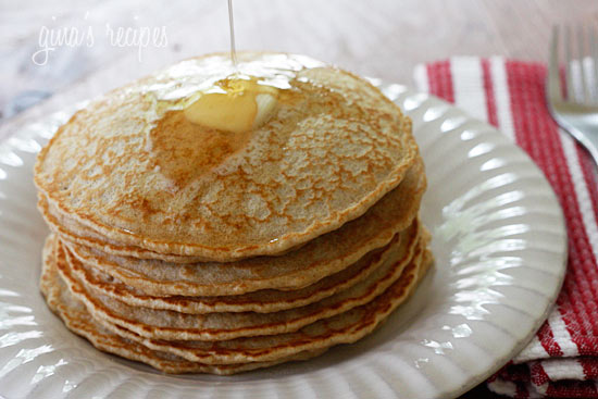 Luxury Dishes: whole wheat pancakes