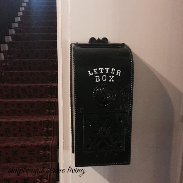 antique letter box mailbox
