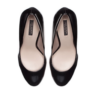 Women black synthetic patent leather