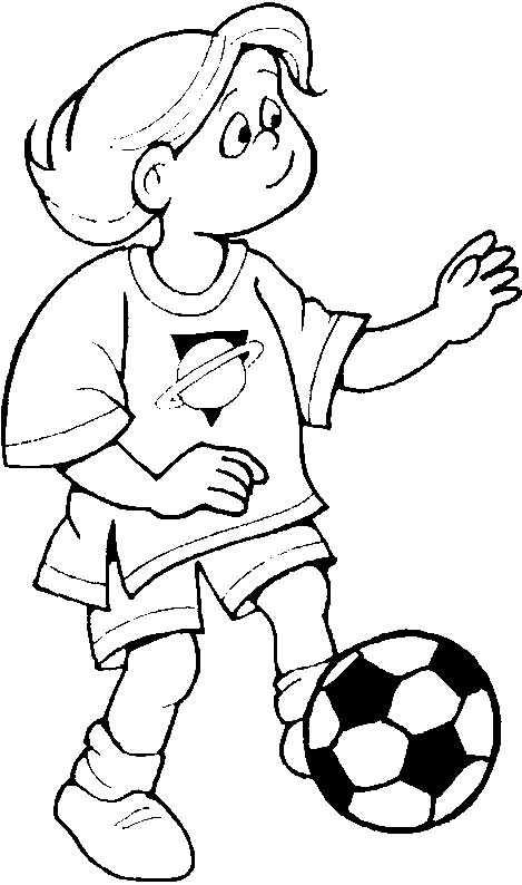 Desenhos Para Pintar De Meninos E Meninas Jogando Bola Preto E Branco