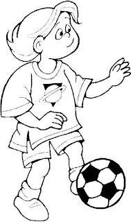 a desenhar Meninos e meninas jogando bola colorir