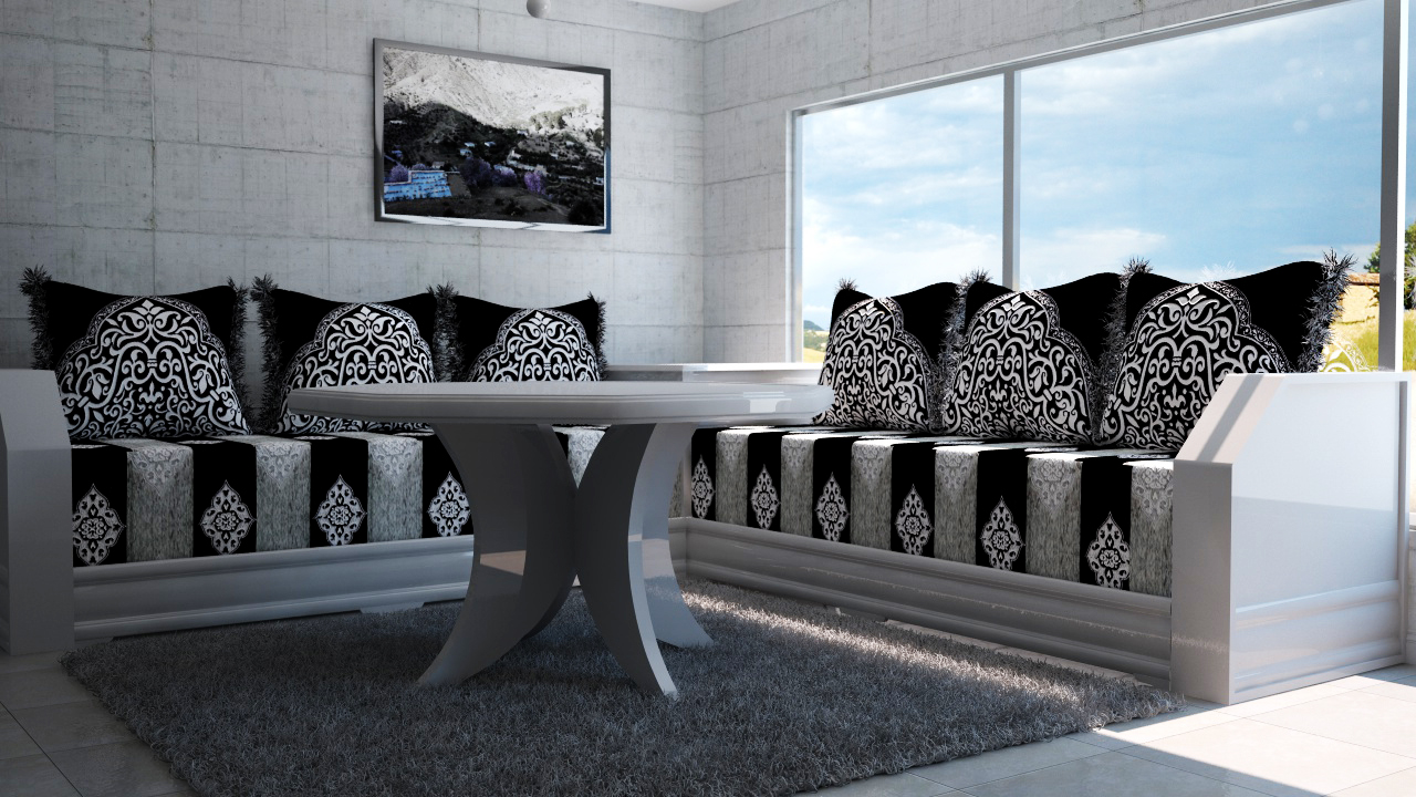 salon marocain waile. Black Bedroom Furniture Sets. Home Design Ideas