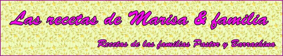 Las recetas de Marisa y familia.