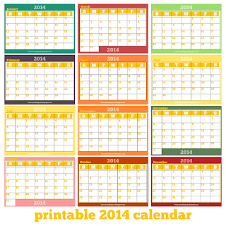 Free printable monthly 2014 calendar 2014 kalender for 4 month calendar template 2014