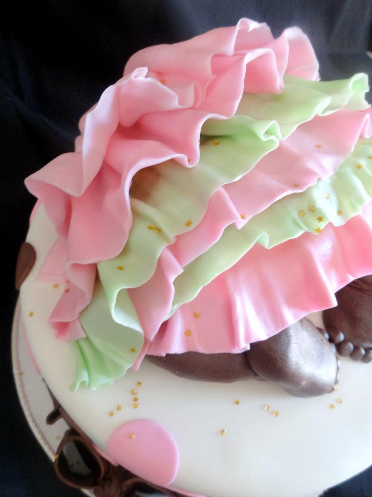 Pink Little Cake Baby Girl Butt Baby Shower Cake