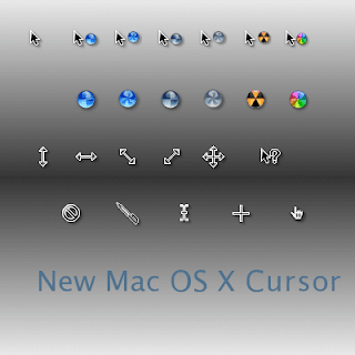 New Mac OS X Cursors