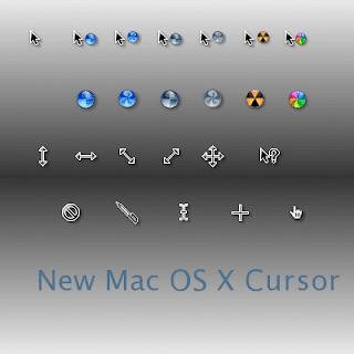 New Mac OS X Cursors