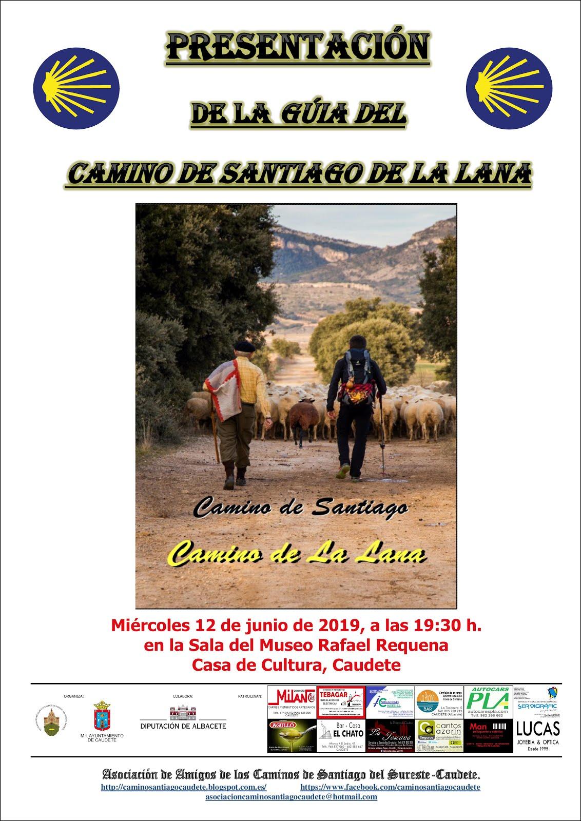 PRESENTACIÓN DE LA GUÍA DEL CAMINO DE LA LANA EN CAUDETE