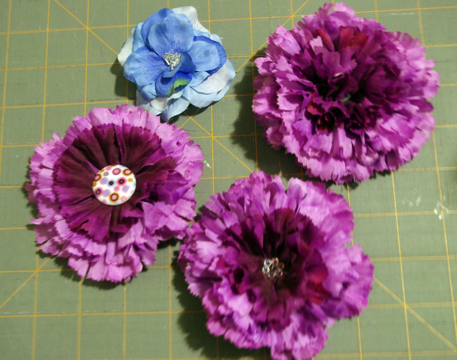 Squigglytwigs Designs Tuesdays Tute Silk Flowerhair Clips Or Pins