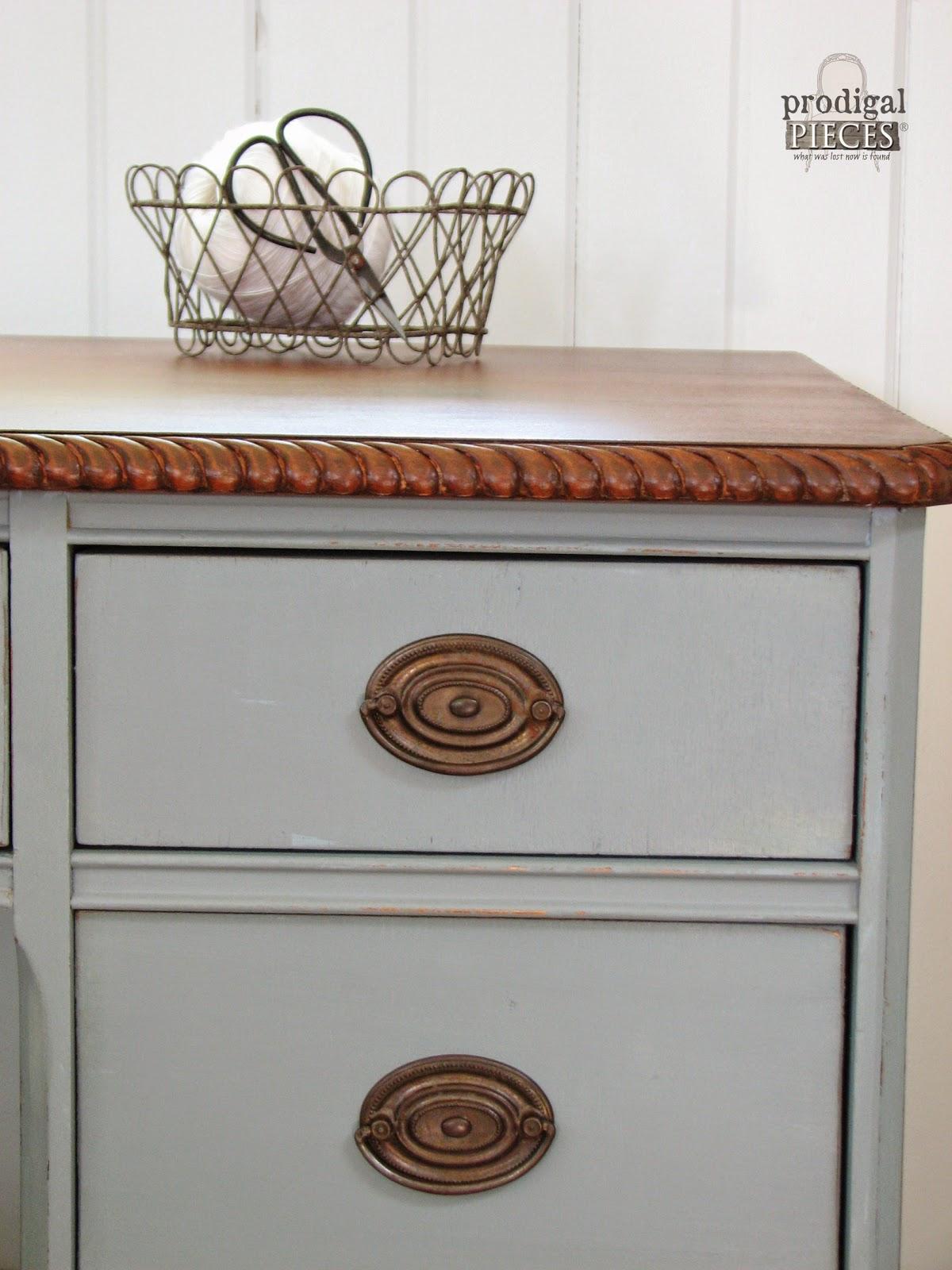An Antique Desk Makeover by Prodigal Pieces via http://www.prodigalpieces.com