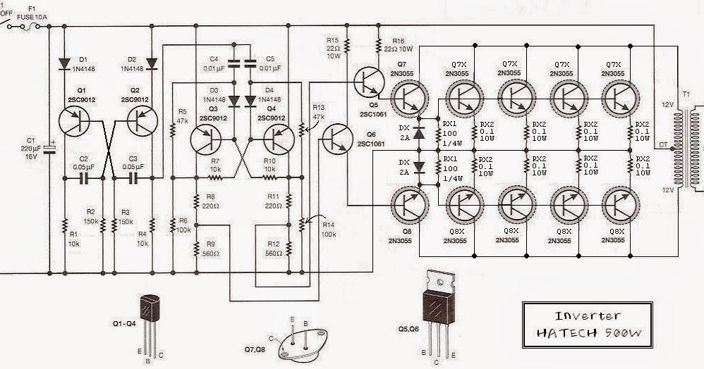 12 volt to 220 volt inverter 500w