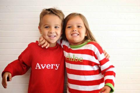 monogrammed children's Christmas sweater