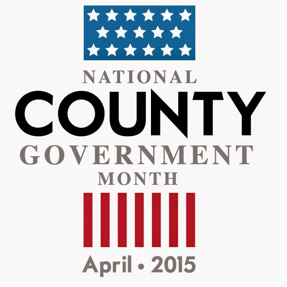 National County Government Month logo