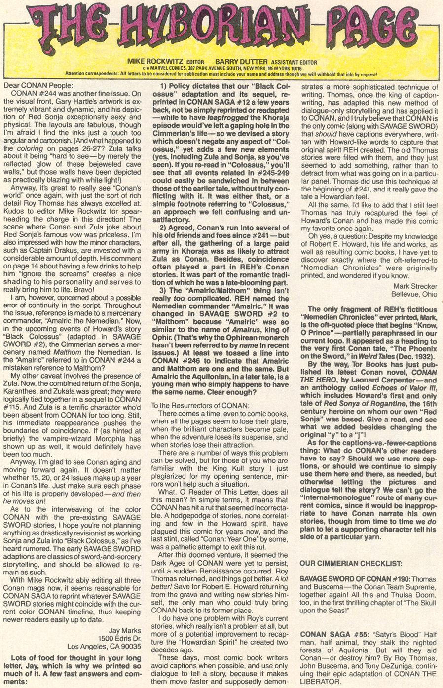 Conan the Barbarian (1970) Issue #249 #261 - English 25