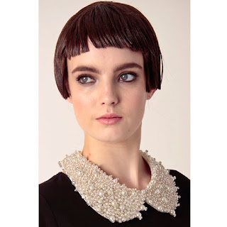 Creme beaded collar by Kling