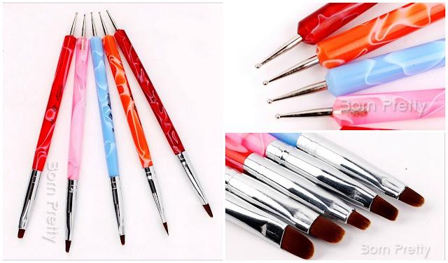 nail art brush dotting tool pensula nail art instrument de punctat
