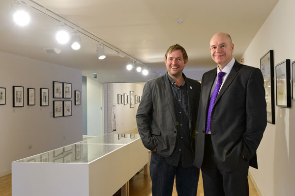 Simon Creed (left), head of technical resources at mac birmingham, with Paul Hutchens, managing director of Eco2Energy.
