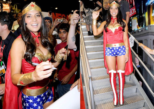 Sexy Olivia Munn in Wonder Woman Costume