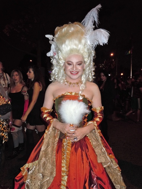 West Hollywood Halloween pompadour dress