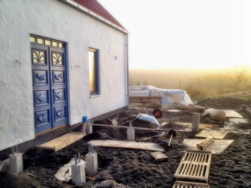 Villa Natura ekologiskt lågenergi hus Österlen farstukvist