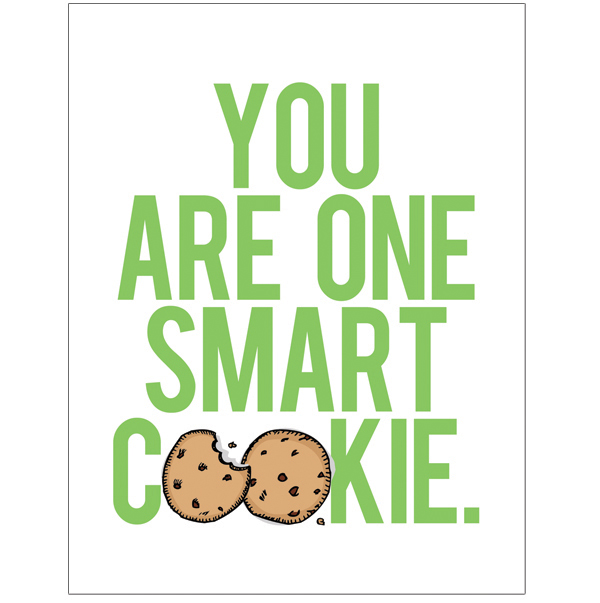 This is a picture of Monster One Smart Cookie Printable