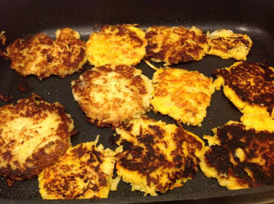 potato latkes on plate on gluten free a-z blog