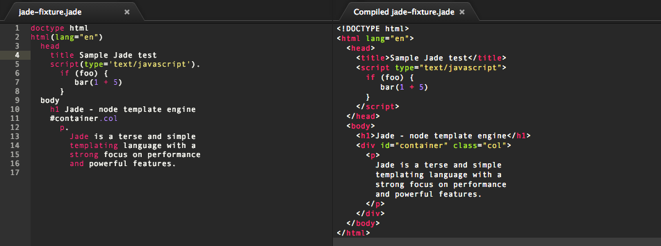 PEM: Jade within Atom.io: Fasten your HTML and SVG authoring and ...