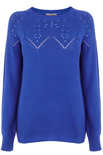 oasis blue jumper