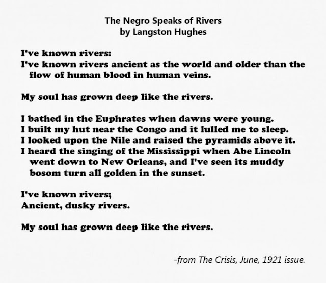 an analysis of langston hughes the negro speaks of river