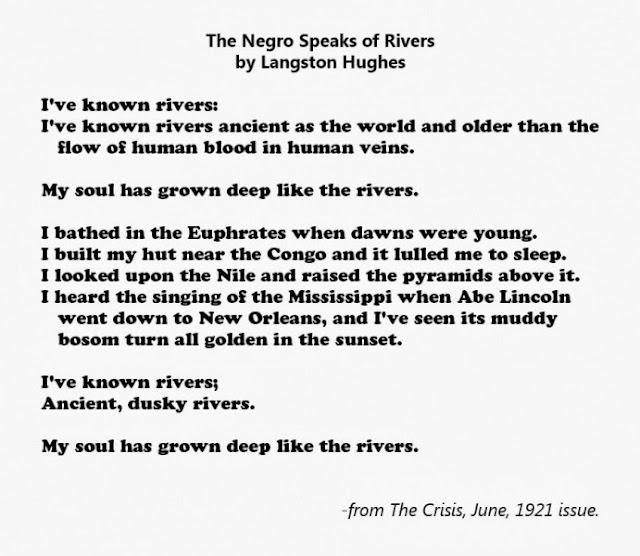 the negro speaks of rivers essay