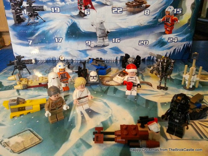 The LEGO Star Wars Advent Calendar Day 19 speeder sleigh in position