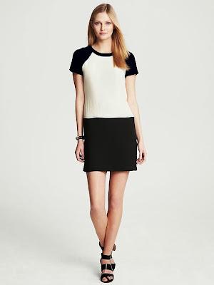 blok renk siyah beyaz elbise, 2014 elbise modelleri