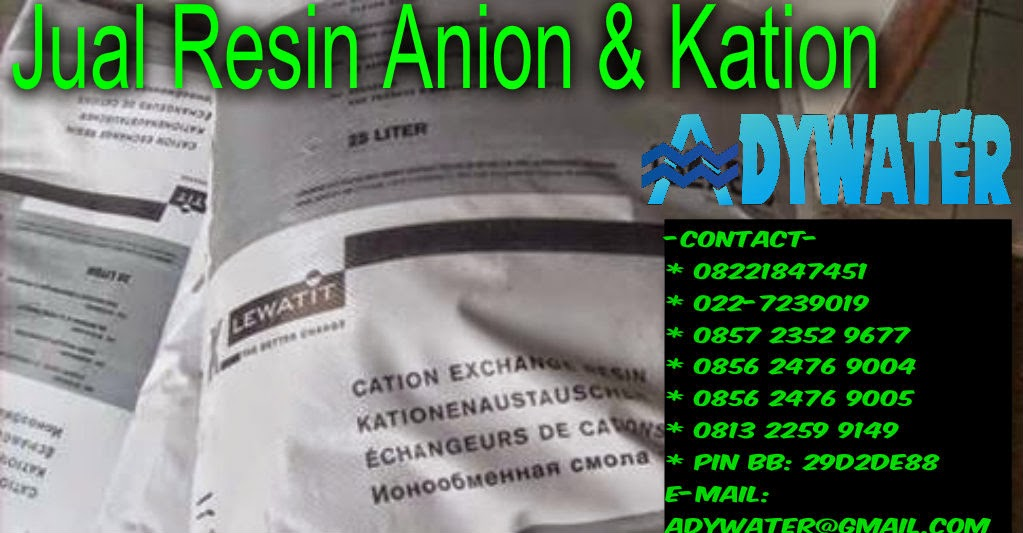 Jual Resin Kation Anion - Jual Resin Murah Ady Water