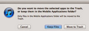 Delete Unused Apps On iTunes