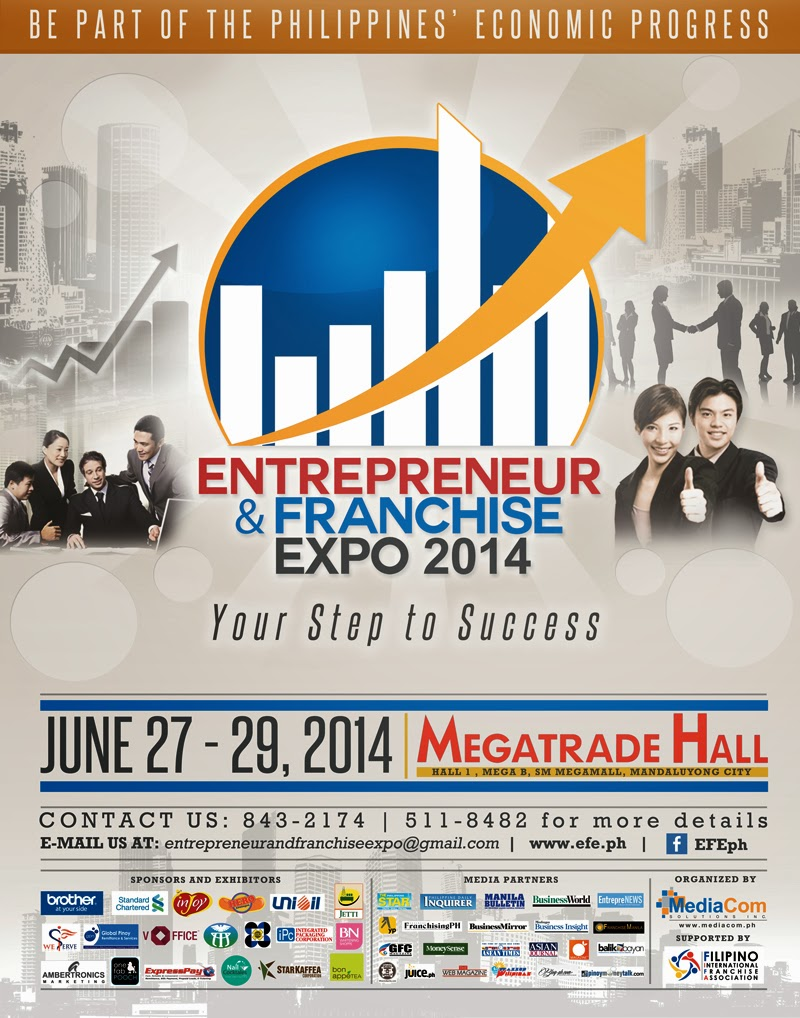 "Caption: Set on June 2014, the Entrepreneur and Franchise Expo – ""Your Step to Success"" is the country's biggest integrated expo and convention for innovative entrepreneurs and growing franchise businesses."