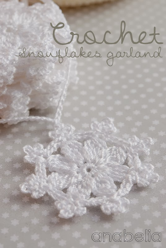 Crochet snowflakes garland | Anabelia Craft Design blog | Bloglovin\'