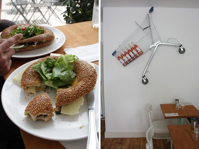 Supermercado sandwich en winkelwagentje
