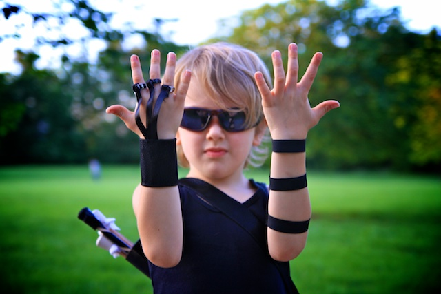 You can keep the jewel on the ring and add her favorite color ribbon and pretty fabric that she picked out and make a pretty wrist bracelet.  sc 1 st  Life Sprinkled With Glitter & Life Sprinkled With Glitter: The Avengers Homemade Hawkeye Costume