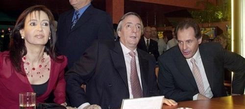 Cristóbal López, con Cristina y Néstor Kirchner