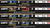 NBA 2K13 Playoffs Colored ESPN Scoreboard + 3D Logos