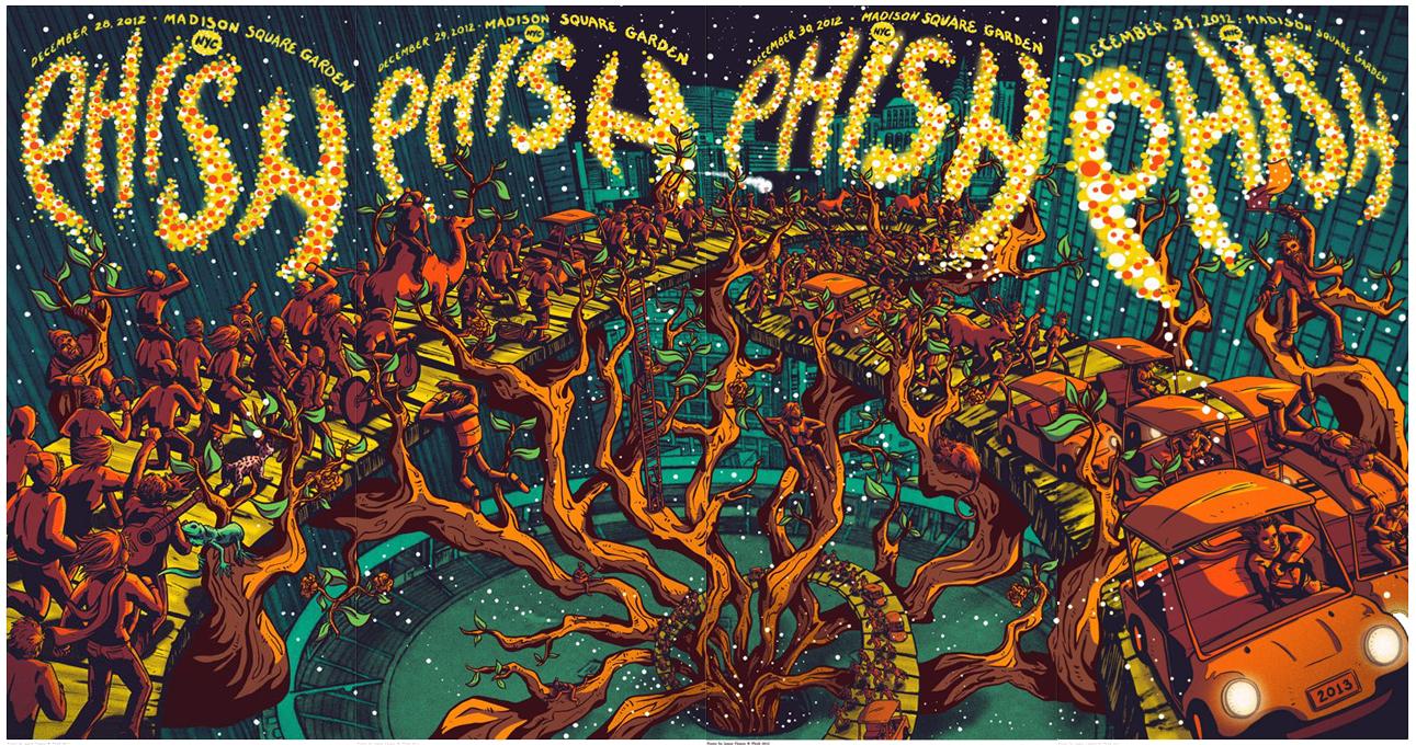 BLACK MUDDY BLOG: Phish 2012-12-31 Madison Square Garden New York, NY