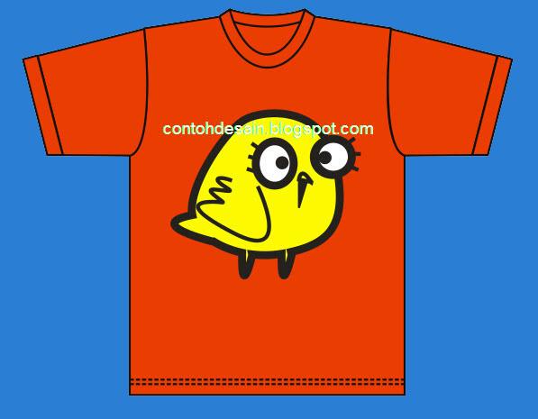 Desain Kaos Burung Kecil Yang Lucu