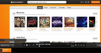 Escucha música online en Grooveshark