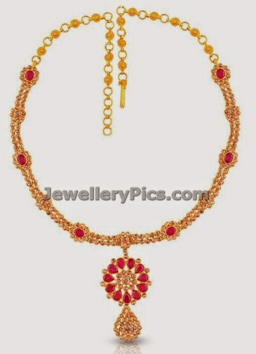 simple uncut diamond necklace collection by malabargold